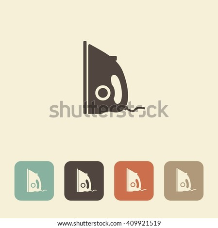 Symbol clothing care. Vector illustration of iron - stock vector