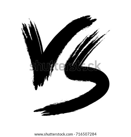Symbol Competition Vs Versus Text Brush Stock Vector Royalty Free