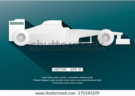 Symbol F1 formula automobile  racing car the world's fastest. Vector - stock vector