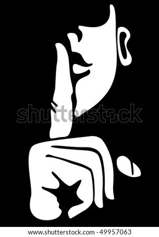 symbol silence face finger on lips stock vector hd (royalty free