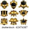 Symbol gold frame elements - stock vector