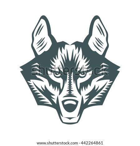 symbol icon wolf - stock vector