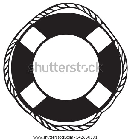 Symbol lifebuoy isolated on white - stock vector