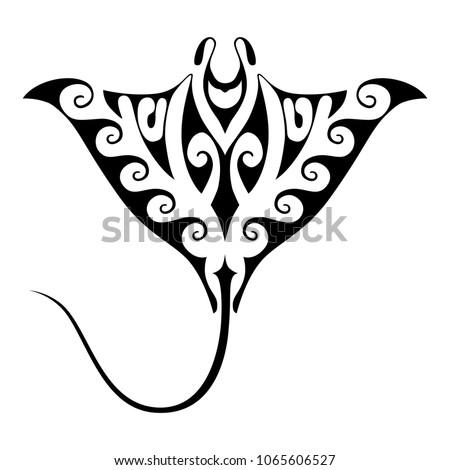 Symbol Manta Ray Isolated Sign On Stock Vector Royalty Free