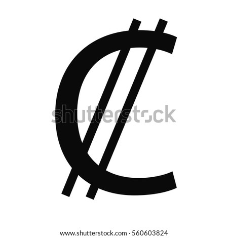 Symbol Money Sign El Salvador Colon Stock Photo Photo Vector