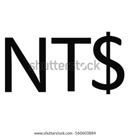 Symbol Money Sign New Taiwan Dollar Stock Photo Photo Vector