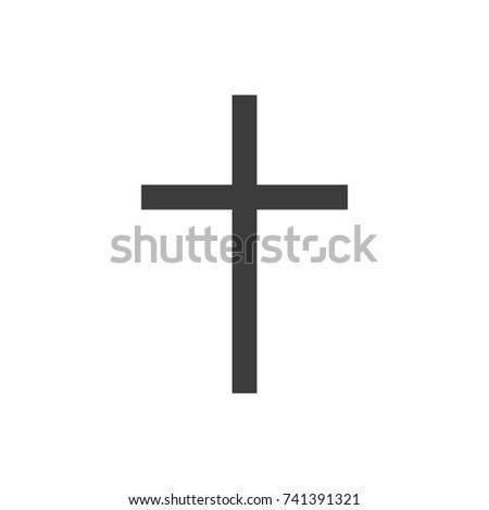 Symbol Church Cross Christianity Religion Symbol Stock Vector