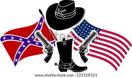 symbol of american civil war. stencil. vector illustration