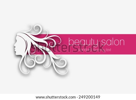 Symbol of beauty salon banner, isolated vector design