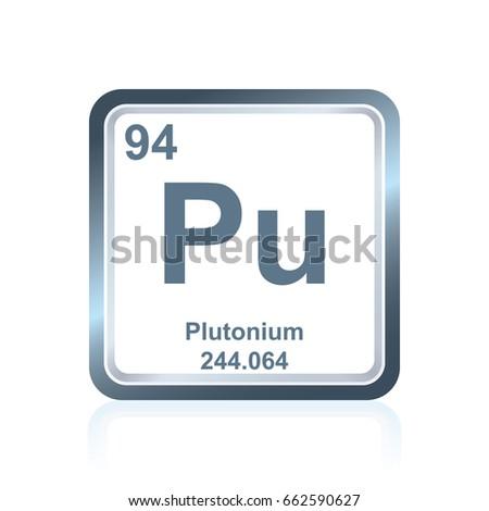 Symbol Chemical Element Plutonium Seen On Stock Photo Photo Vector