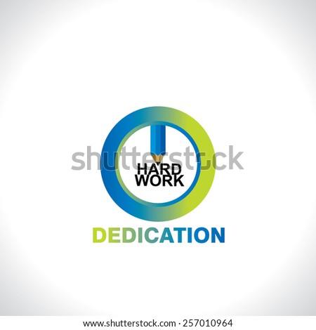 Symbol Dedication Idea Concept Stock Vector Royalty Free 257010964