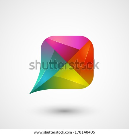 Symbol of dialog, speech bubble, eps10 - stock vector
