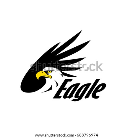 Symbol Eagle Hawk Predator Sport Team Stock Vector 688796974