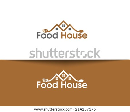 Symbol of Food House for Logo Design. - stock vector