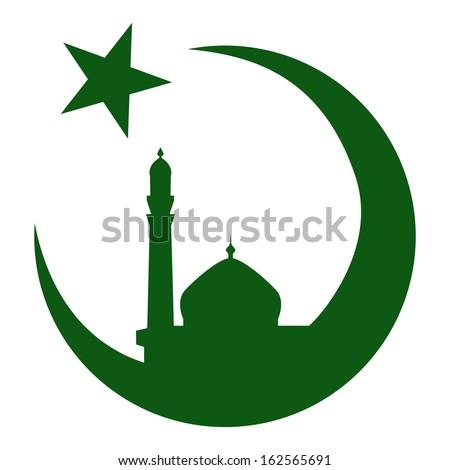 Symbol of Islam and mosque, ramadan. Vector illustration eps10 - stock vector