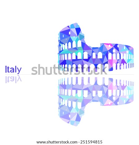 symbol of Italy, vector illustration - stock vector