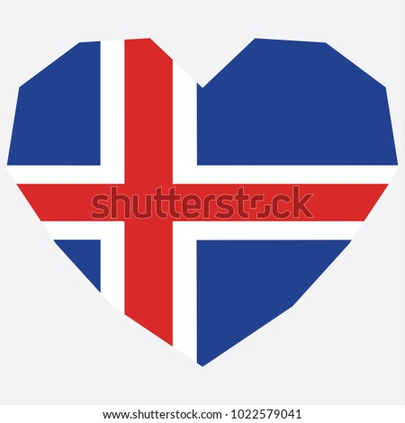 Symbol Love His Country Icon Independence Stock Vector 1022579041