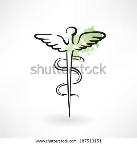 symbol of medicine grunge icon - stock vector