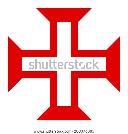 Symbol of Order of Christ on white. - stock vector