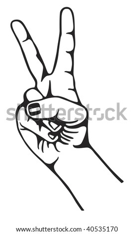 Symbol of peace - hand gesture