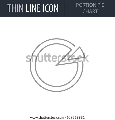 Symbol Portion Pie Chart Thin Line Stock Vector HD (Royalty Free ...