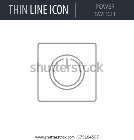 Symbol Power Switch Thin Line Icon Stock Vector Royalty Free