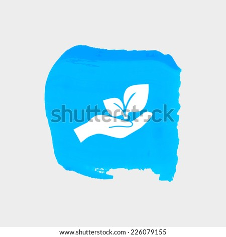 symbol of protection of the environment - stock vector