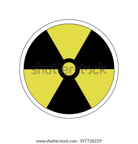 symbol of radioactive contamination on a white background, danger - stock vector