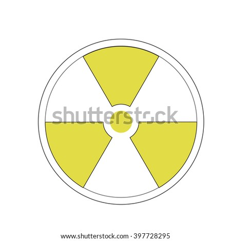 symbol of radioactive contamination on a white background, danger