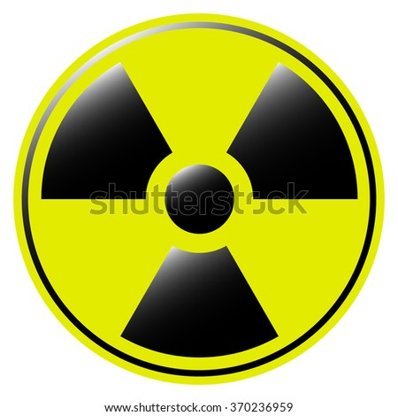 symbol of radioactive contamination with highlights on  a white background - stock vector