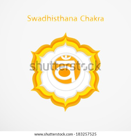 Symbol of Swadhisthana chakra vector - stock vector