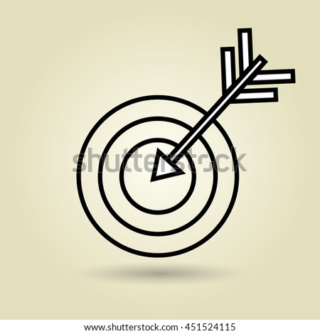 symbol of target isolated icon design, vector illustration  graphic