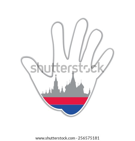 Symbol of the city - Moscow. The idea for the design - stock vector