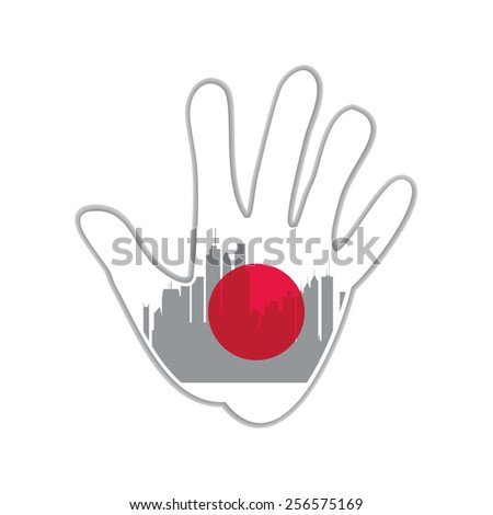 Symbol of the city - Tokyo. The idea for the design - stock vector