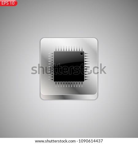 Symbol Microprocessor Stock Vector 1090614437 - Shutterstock