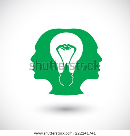 symbol of thinking idea together. brainstorm - stock vector