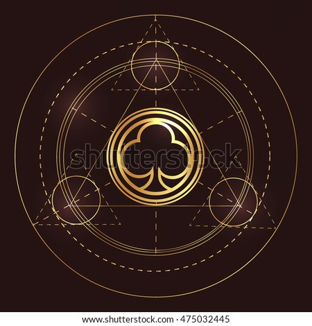 symbol trinity icon force lettering sacred stock vector