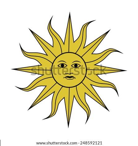 symbol  of Uruguay, vector illustration - stock vector