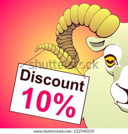 Symbol of year. Discount sign ten percent - stock vector