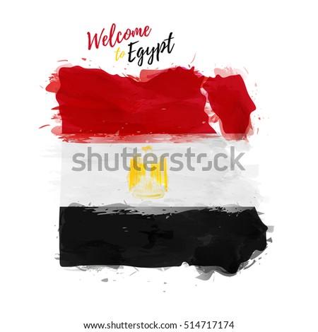 Symbol Poster Banner Egypt Map Egypt Stock Vector 514717174