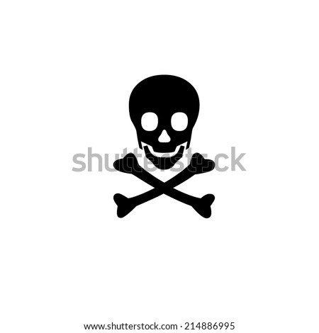 Symbol skull danger - stock vector