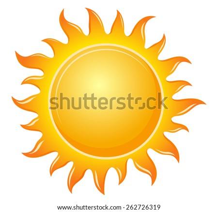 Symbol sun - stock vector