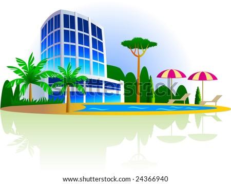 Resort Hotel Stock Vectors Amp Vector Clip Art Shutterstock