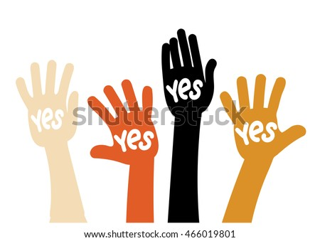 "Symbol vote - raised his hands with the words ""Yes"""