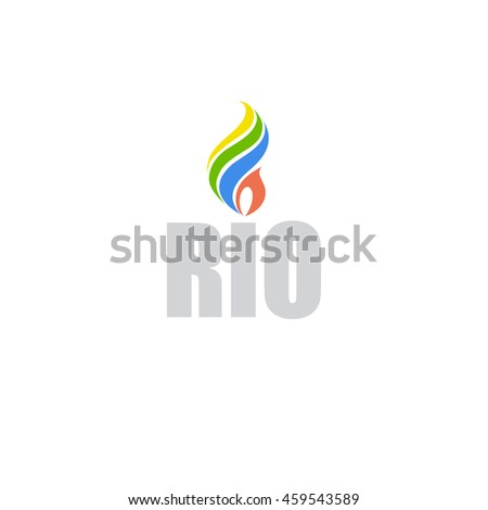 symbol with Brazilian flag colors, vector - stock vector