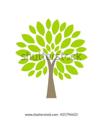 Symbolic eco tree. Vector illustration