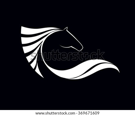 Symbolic image horse, icon design, logo and emblem sporting events, vector illustration - stock vector