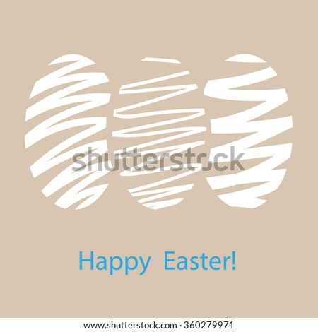 Symbolic image of Easter eggs. Greeting card, vector Eps 10 - stock vector