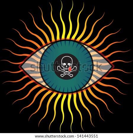symbolic representation of the evil eye - stock vector