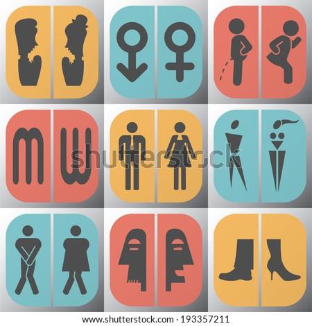 Symbols Bathroom.Vector illustration. - stock vector